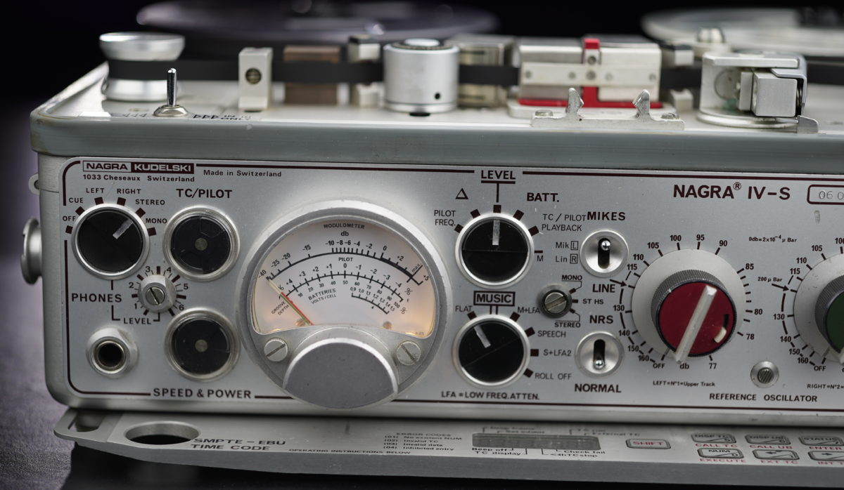 Nagra IV-S close up modulometer